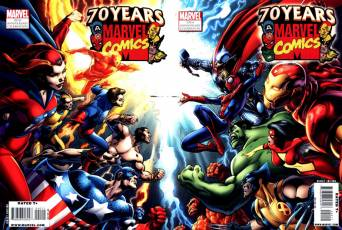 Couverture de l'album MARVEL 70 TH ANNIVERSARY CELEBRATION Marvel 70 Th  Anniversary Celebration magazine