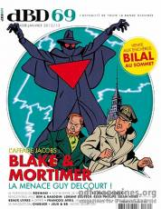 Couverture de l'album [dBD] Tome #69 L'affaire Jacobs : Blake & Mortimer la menace Guy Delcourt !