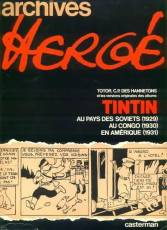 Couverture de l'album TINTIN Archives Hergé n°1