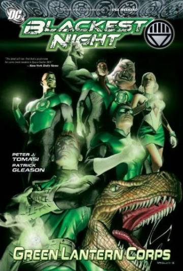 Couverture de l'album GREEN LANTERN CORPS Tome #6 Blackest Night