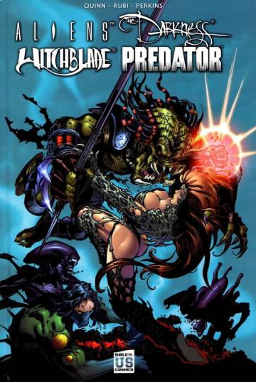 Couverture de l'album ALIENS, DARKNESS, WITCHBLADE, PREDATOR ALIENS, DARKNESS, WITCHBLADE, PREDATOR