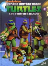 Couverture de l'album TEENAGE MUTANT NINJA TURTLES Tome #3 Robots et cerveaux