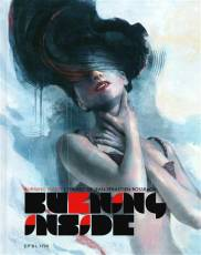 Couverture de l'album BURNING INSIDE The art of Jean-Sebastien Rossbach