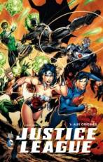 Couverture de l'album VF JUSTICE LEAGUE Aux origines + BRD : Justice League : War