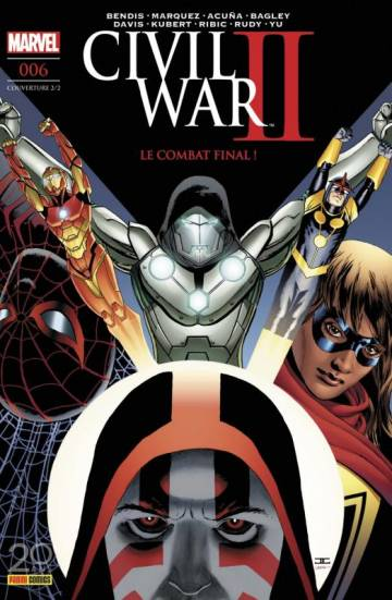 Couverture de l'album CIVIL WAR II Tome #06 Le combat final ! - couverture 2/2