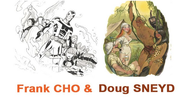 Salons, expositions bande-dessinée, Exposition Frank Cho & Doug Sneyd Galerie 9art