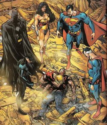 Extrait de l'album BATMAN & SUPERMAN Tome #11 4/4 Infinite Crisis