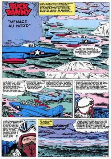Extrait de l'album BUCK DANNY Tome #16 Menace au Nord